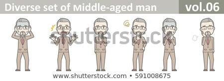 Mylić człowiek siwe włosy myślenia biały portret Zdjęcia stock © wavebreak_media