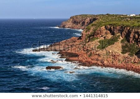 Kilátás sziklák sziget égbolt természet tájkép Stock fotó © Antonio-S