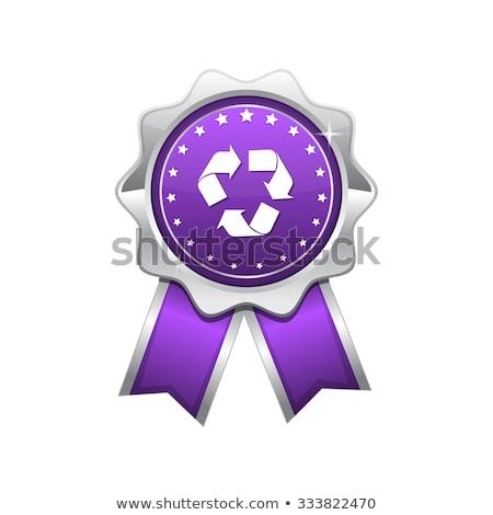 recycle violet vector icon design stock photo © rizwanali3d