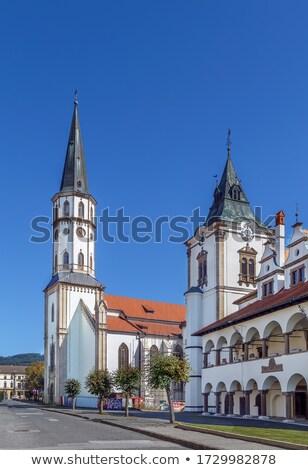 square of master paul levoca slovakia stock photo © phbcz