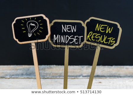 New Mindset for New Results on Chalkboard. Stock photo © tashatuvango