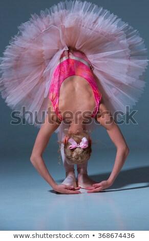 Ballerine rose vers l'avant bleu femme Photo stock © master1305