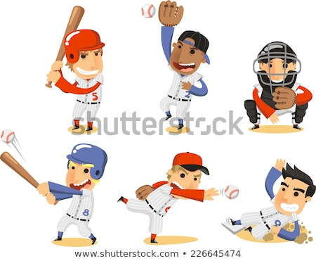 Cartoon baseball player Stock photo © antonbrand