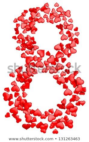 Dígito rojo corazones internacional día de la mujer mujer Foto stock © shawlinmohd