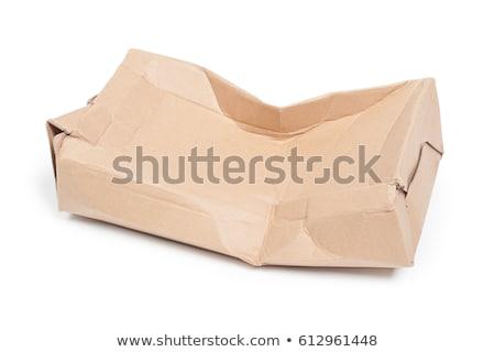 old used isolated carton box Stock photo © taviphoto