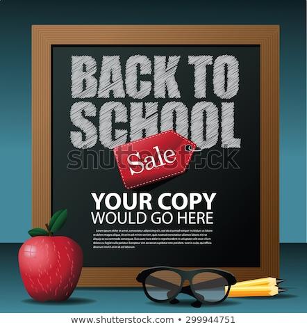 Back to school Sale Label card. EPS 10 Stock photo © beholdereye