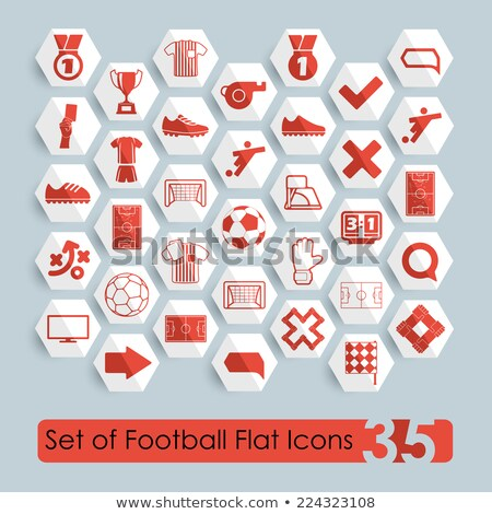 Terv ikon futball döntőbíró eredményjelző ui Stock fotó © angelp