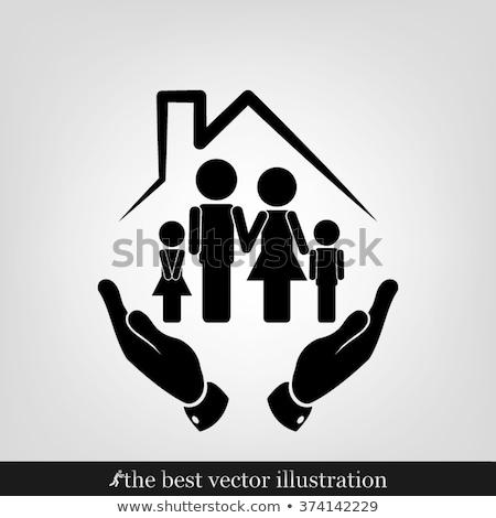 Familie Planung Symbole Illustration weiß Gesundheit Stock foto © bluering