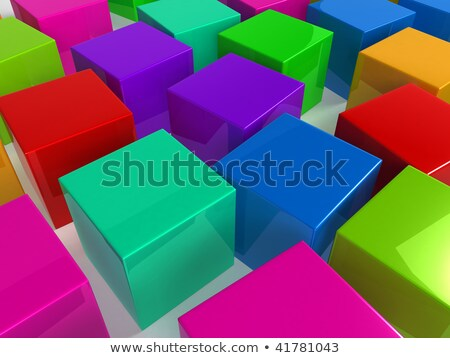 High blue box and many red pits Stock photo © MONARX3D
