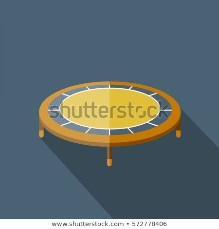 Trampoline icon in blue color Stock photo © bluering
