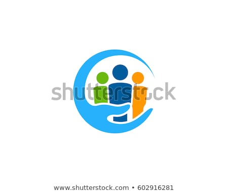 Gemeenschap zorg logo adoptie sjabloon vector Stockfoto © Ggs