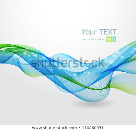yeşil · renkli · hatları · düzenlenebilir · soyut - stok fotoğraf © saicle