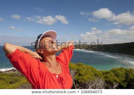 Stok fotoğraf: Deniz · manzarası · iyi · dinlenmek · sabah · mavi · gökyüzü · deniz