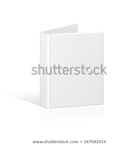 Open · leder · aktetas · geïsoleerd · witte · werk - stockfoto © kayros