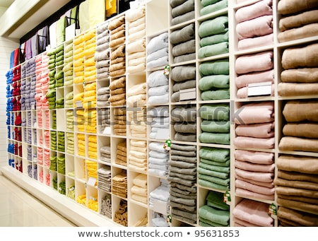 tablettes · coloré · textiles · plein · tissu - photo stock © zurijeta