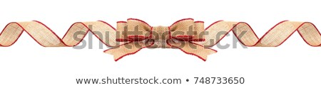 Rustic festive Christmas border with burlap bows Stock photo © ozgur