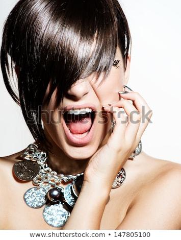 girl cuts the fringe Stock photo © adrenalina