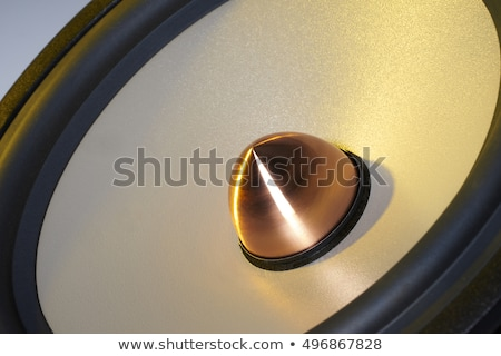 yellow illuminated loudspeaker detail Stock photo © prill