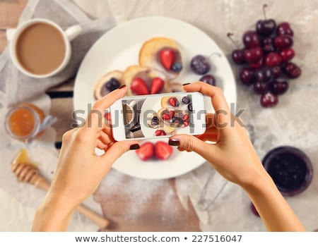 mulher · xícara · de · café · sobremesa · bebidas - foto stock © yatsenko