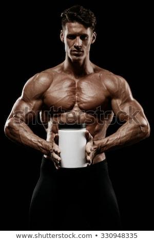 Muscular hombre proteína blanco fitness salud Foto stock © Elnur