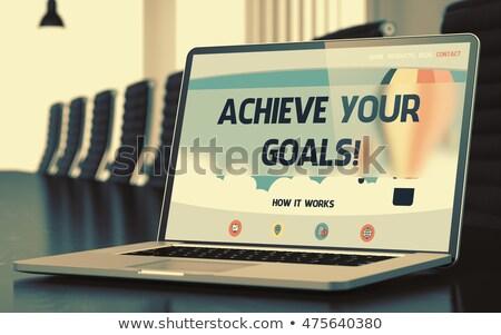 Achieve Your Goals on Laptop in Conference Room. 3D Rendering. Stock photo © tashatuvango