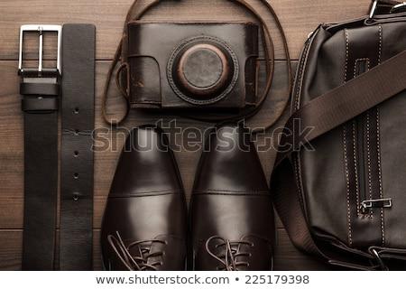 ブラウン 靴 ベルト 実例 ファッション 背景 ストックフォト © bluering