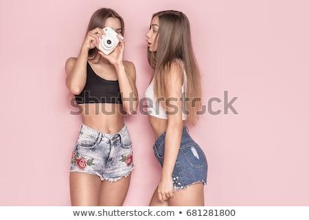 моде · фото · джинсов · красивой · блондинка - Сток-фото © neonshot