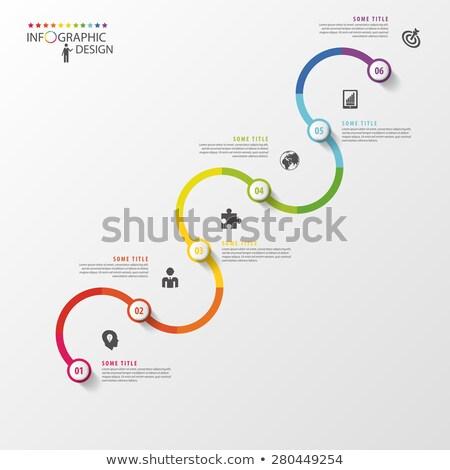 Wektora puzzle timeline szablon sprawozdanie Zdjęcia stock © orson