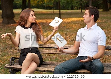 Homem mulher relação menina sensual feliz Foto stock © tekso