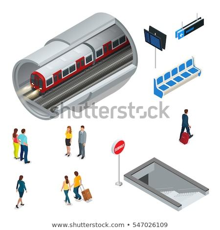 Izometrikus metró vonat 3D vektor szállítás Stock fotó © Genestro