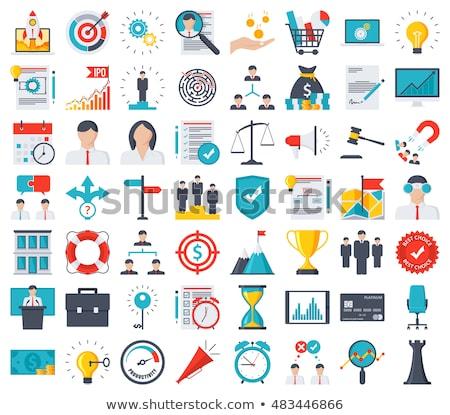 Stockfoto: Business · tijd · planning · twee · mensen · klok