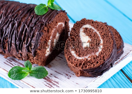 sweet chocolate roll stock photo © digifoodstock