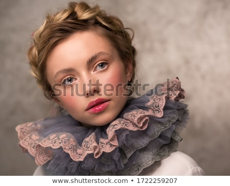 woman with braid round neck stock photo © julenochek