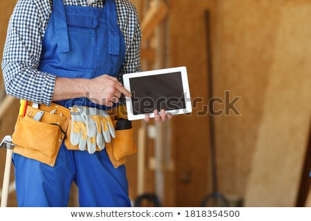 Digital tablet on wooden plank Stock photo © wavebreak_media