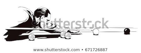 homem · tiroteio · piscina · foco · tiro - foto stock © iofoto