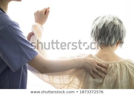 nő · idősebb · másik · vízszintes · lövés · nők - stock fotó © kzenon