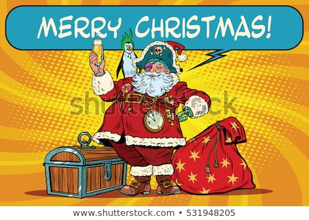 santa claus with a bag of money stock photo © studiostoks
