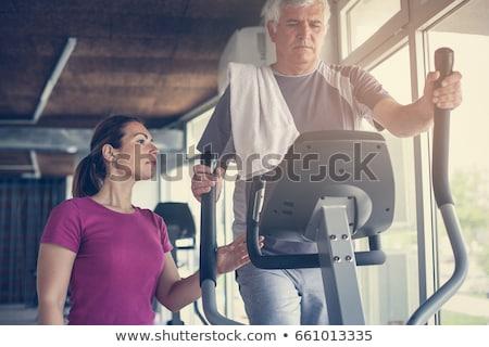 yaşlılar · uygunluk · mutlu · yaşlı · çift - stok fotoğraf © kzenon