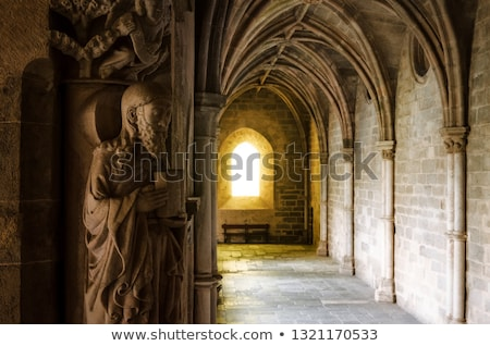 Medieval cloister Stock photo © alessandro0770