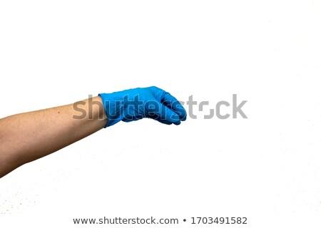 Stock fotó: Kéz · sebészi · kesztyű · kórház · Európa · biztonság