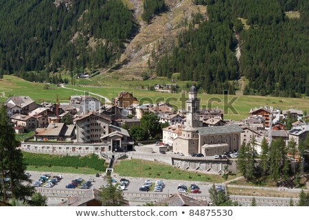 Stock photo: church in cogne italy