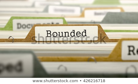 Bounded on Business Folder in Catalog. Stock photo © tashatuvango