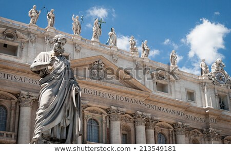 statue of st peter in front of st peters basilica stock photo © virgin
