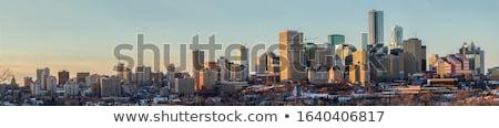 Moderne architectuur stad landschap maan zomer stedelijke Stockfoto © benkrut