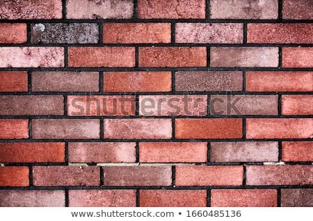 Parede de tijolos parede textura laranja urbano vermelho Foto stock © 2Design