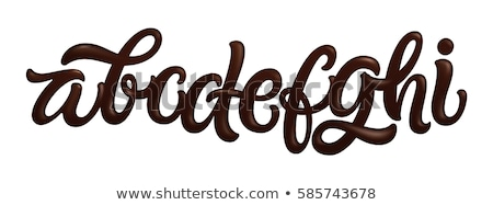 Letter E Chocolate font. sweetness alphabet. Liquid lettering. S Stock photo © MaryValery