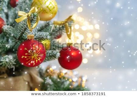 feliz · año · nuevo · Navidad · primer · plano · foto · flor · madera - foto stock © denisgo