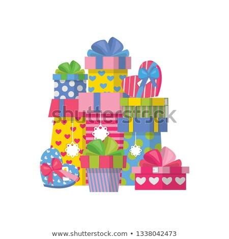 gift pyramid isolated lot of gift box vector illustration stock photo © popaukropa