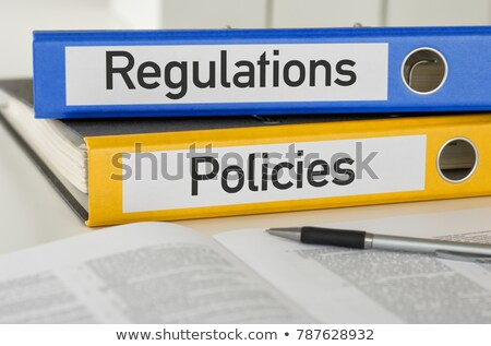 Folders with the label Regulations and Policies Stock photo © Zerbor