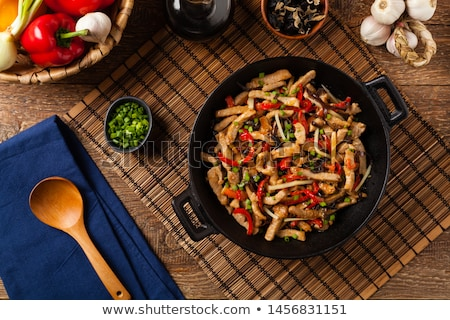 Pork And Vegetables Stir Fry Stock photo © mpessaris